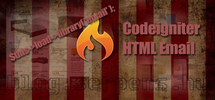 Codeigniter HTML Email küldése