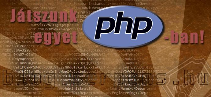 PHP egyszerű szövegkódolás